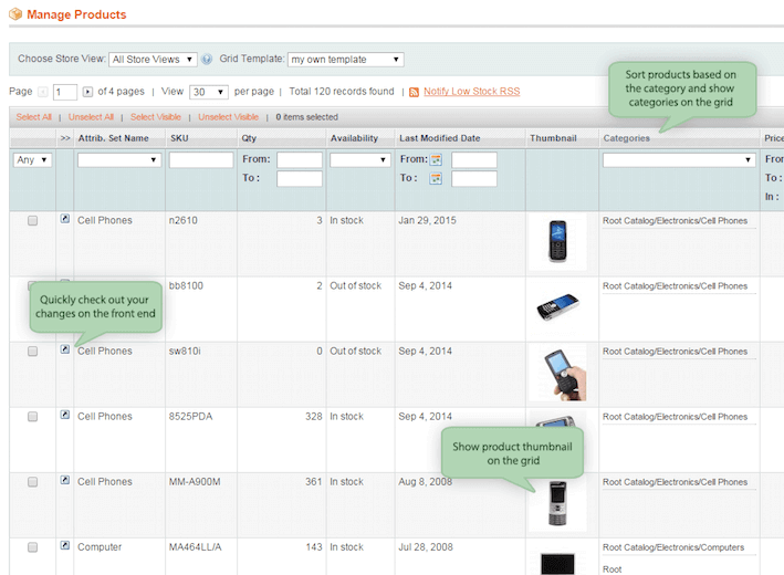 Magento must have modules extended product grid